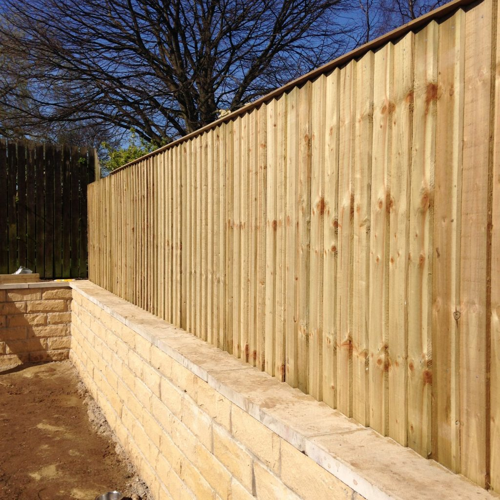 Garden fencing wooden fence panels and gates in for Adjoining wall